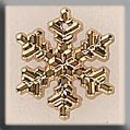 12038 - Medium Snowflake Gold 16mm - 1 per pkg